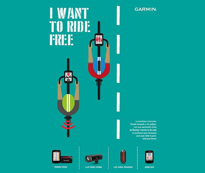 Garmin hace campana a favor de la seguridad del ciclista con I want to ride free