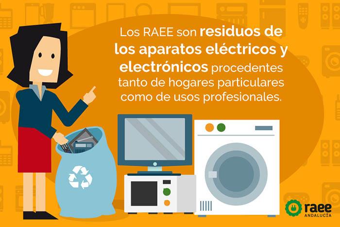 Montefrío, Residuos de aparatos eléctricos y electrónicos, RAEE, convenio marco andaluz, gestión de resiuos electrónicos, Ambilamp, Ecoasimelec, Ecofimática, Ecolec, Ecolum, Ecotic, ERP, ECORAEEs