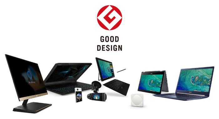 Ocho productos de Acer han sido galardonados con el Premio Good Design 2017