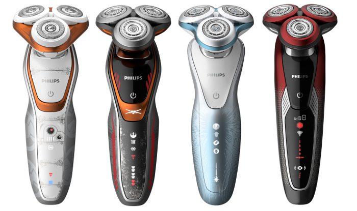 Philips Star Wars, Serie 5000 modelo SW5700/07, Serie 6000 modelo SW6700/14, Serie 7000 modelo SW7700/67,Serie 9000 modelo SW9700/67, Philips, Star Wars: Los Últimos Jedi, afeitadoras, edición limitada,