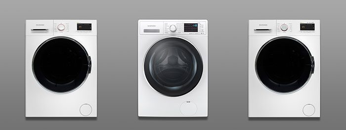 Daewoo, lavadora, lavasecadora, dynamic inverter motor, tambor Esmeralda, Supercooling Tech