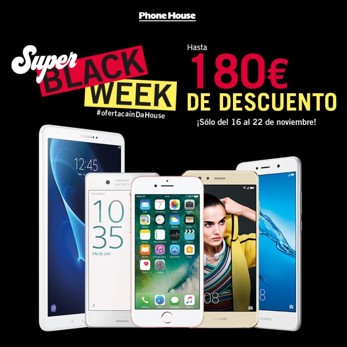 Súper Black Week de Phone House, del 16 al 22 de noviembre