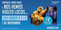 Honor, tienda online, oferta Honor 9, smartphone honor 9 a 1 euro