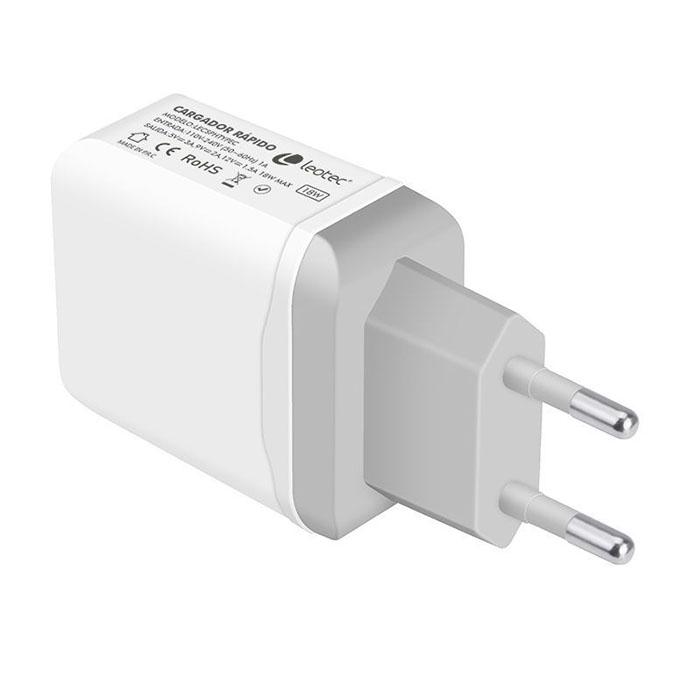 Cargador USB Type-C de Leotec, con carga rápida