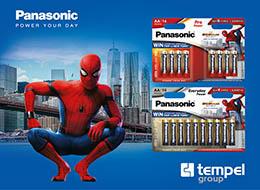 pilas panasonic spiderman