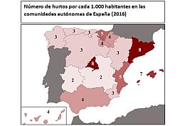 hurtos en comercios españoles