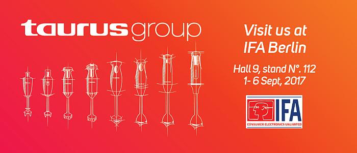 Grupo Taurus, Taurus, Solac, Mycook, electrodoméstico, feria IFA de Berlín, Batidora, aspirador, robot de cocina, centro de planchado, escoba aspirador