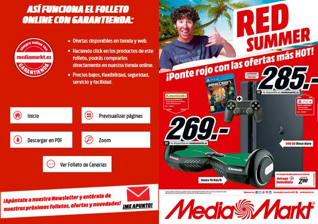 Red Summer MediaMarkt, ofertas MediaMarkt, cadena MediaMarkt, folleto MediaMarkt, folleto verano MediaMarkt, descuentos, tiendas electrodomésticos, ofertas, rebajas, productos en oferta, ordenadores baratos, electrodomésticos baratos