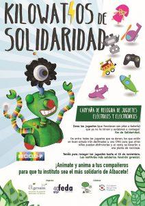 Kilowatios de Solidaridad AGESAM y ERP España juguetes eléctricos y electrónicos Albacete RAEE
