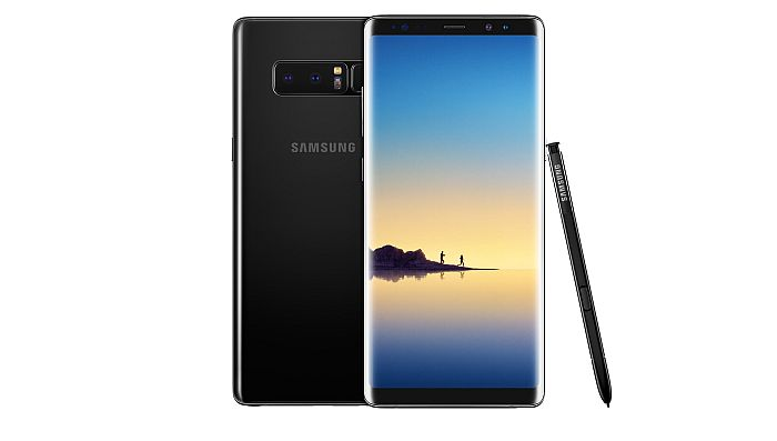 Samsung Galaxy Note8 Midnight Black Maple Gold seguridad de las baterías Screen Off Memo escáner de iris Smart Auto Focus de 8 Mp Dual Pixel estabilizador óptico de imagen traducción del S Pen Always On S Pen Pantalla Infinita Samsung DeX