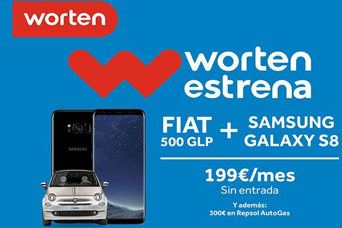 Worten Worten estrena ALD Automotive Repsol AutoGas GLP Fiat 500 Lounge Híbrido GLP . Samsung Galaxy S8