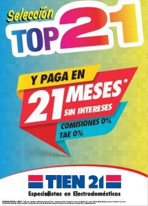 tien 21, tiendas, electrodomésticos, promoción TOP21