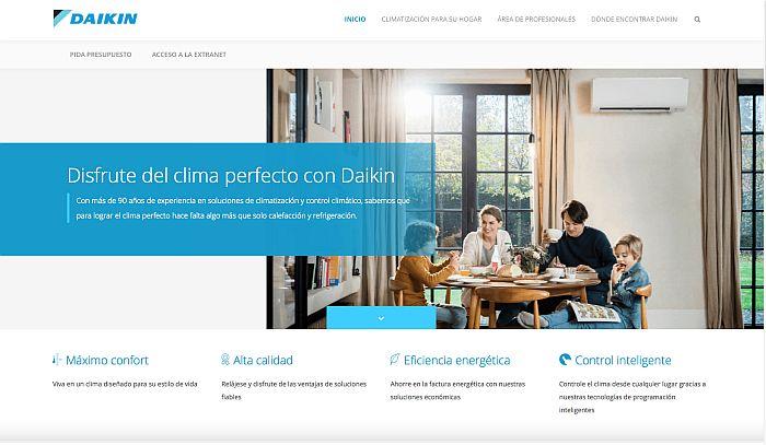 Daikin nueva web responsive red de asistencia técnica Extranet para clientes