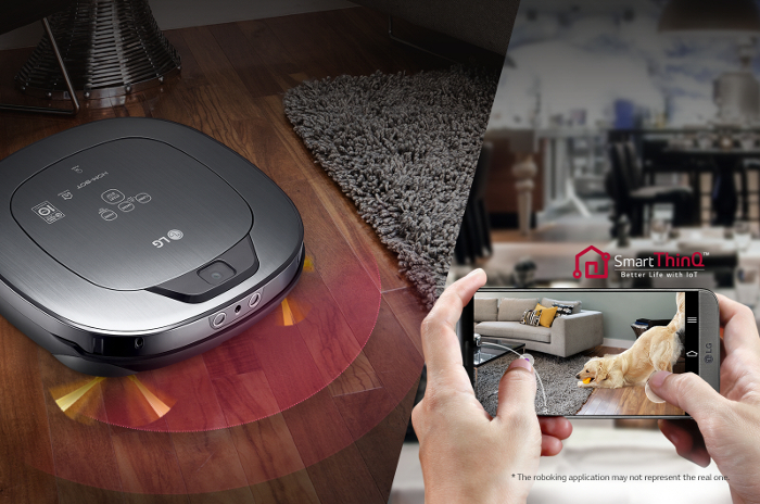 robot aspirador, LG, Hombot Square Turbo, mascotas, higiene hogar, modo turbo, EPA antialérgicas, Home Joy, Home view, LG SmarThinQ, videovigilancia