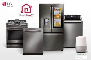 LG Google Home, electrodomésticos, hogar conectado, internet, IOT, lavadora, frigorífico, microondas, hogar inteligente, smartphone