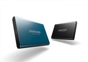Unidad de almacenamiento externo Samsung SSD T5, disco duro externo, Samsung, T5, velocidad de trnasferencia 2 TB, hardware, ordenador, almacenamiento