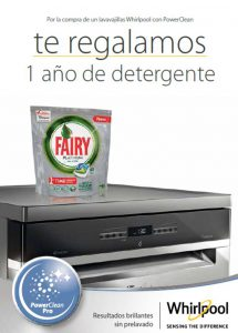 Whirlpool, programa vapor, Fairy, Power Dry , lavavajillas, PowerClean, Fairy gratis,