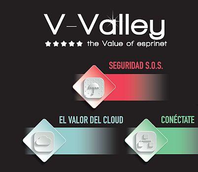 V-Valley Seguridad S.O.S. Comunícate Build IT Cloud Conéctate programas demo integración y configuración de equipos campañas de soluciones financieras resellers