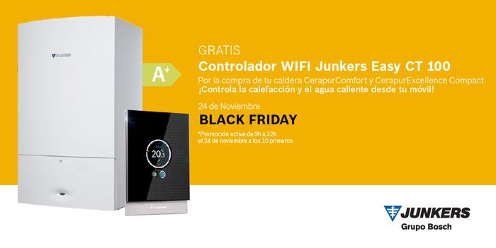 Junkers, black friday, promoción, regalo, caldera, controlador wifi Junkers, Bosch termotecnia, caldera