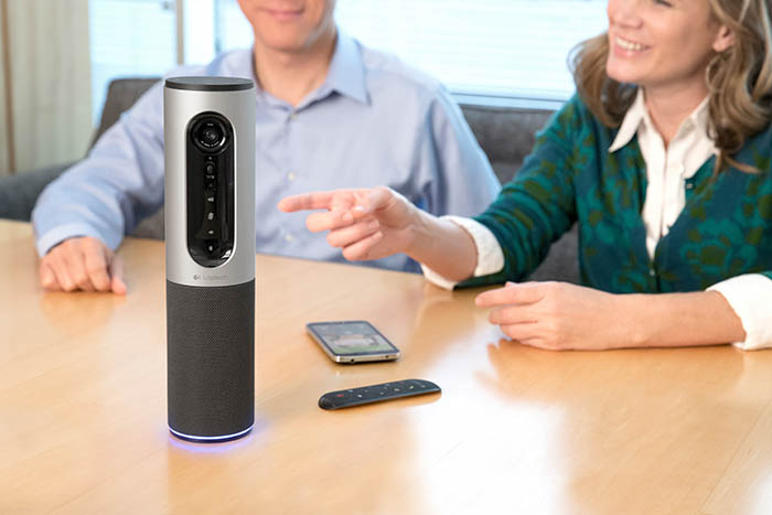 Logitech, videoconferencias, MeetUp, Group, Brio, Skype, SmartDock, ConferenceCam Connect, huddle rooms, skype, facetime, video collaboration, Christophe Meline