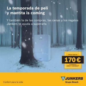Junkers, calderas, promoción Navidad, cheque regalo, 170 euros, El Corte Inglés, instalador, caldera Cerapur, caldera, Cerapur