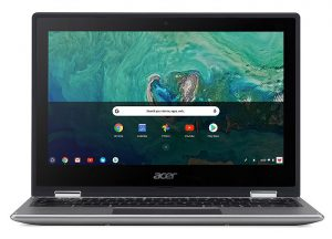 Chromebook Acer Spin 11 USB 3.1 tipo C Google Play lápiz óptico Wacom EMR Chromebook R 11 pantalla HD IPS convertible 360° Gen 1 WiFi MIMO 802.11ac 2x2 Bluetooth 4.2 Intel Pentium N4200 Intel Celeron N3450 Intel Celeron N3350 memoria LPDDR4 eMMC Chrome OS