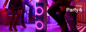 Energy Party 6 altavoz Bluetooth función Music Power 600 altavoz con función karaoke Bluetooth 4.0