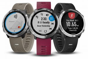 Garmin Forerunner 645 Garmin Forerunner 645 Music Chroma Display Corning Gorilla QuickFit Garmin Connect Garmin Connect IQ Garmin Connect Mobile Face It notificaciones inteligentes training effect HRM-Run Pod Running Dynamics HRM Swim métricas de carrera Garmin Elevate GPS Glonass Deezer WiFi Connect iQ iTunes Windows Media Player