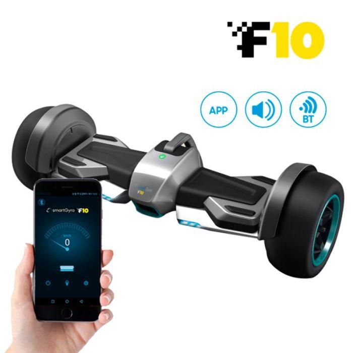 Hoverboard smartGyro F10 Silver Run-Flat batería extraíble Samsung de litio motor Brushless de 700 W