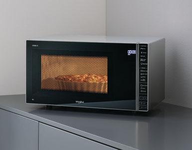 microondas cook 30, whirlpool, autolimpiado, 30 litros, grill, vapor, autocook, autococinado, silver, espejo, blanco, cocina creativa con microondas, horno microondas