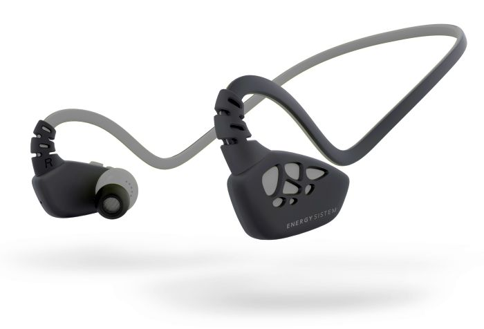 Energy Music batería de litio recargable por cable USB micrófono integrado con función manos libres y control de llamadas Bluetooth aptX Secure-Fit IPX4 Energy Earphones Sport 3 Energy Sistem