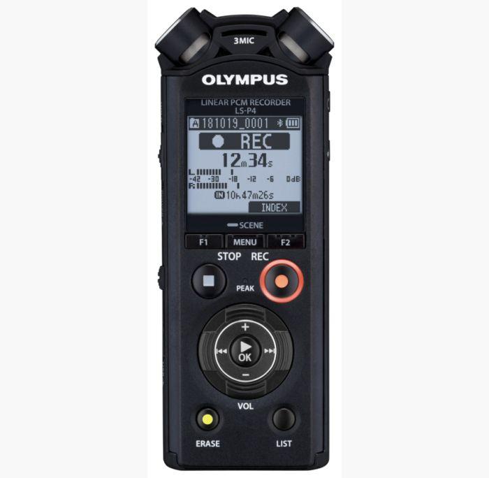 grabadora PCM Lineal Olympus LS-P4 formato FLAC grabadora audio de calidad profesional