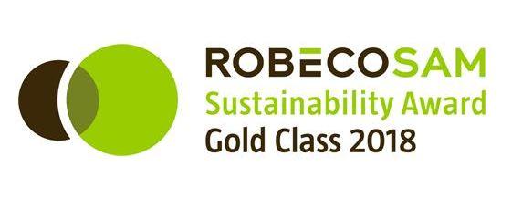 Anuario de Sostenibilidad Climate A List de 2017 de CDP Dow Jones Sustainability World (DJSI World) Evaluación de Sostenibilidad Corporativa (CSA) Gold Class Award RobecoSAM