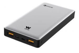 Las baterías portátiles Power Bank QC 10500, QC 16000 y QC 20500 están diseñadas cargan todo tipo de dispositivos móviles a la máxima velocidad posible.