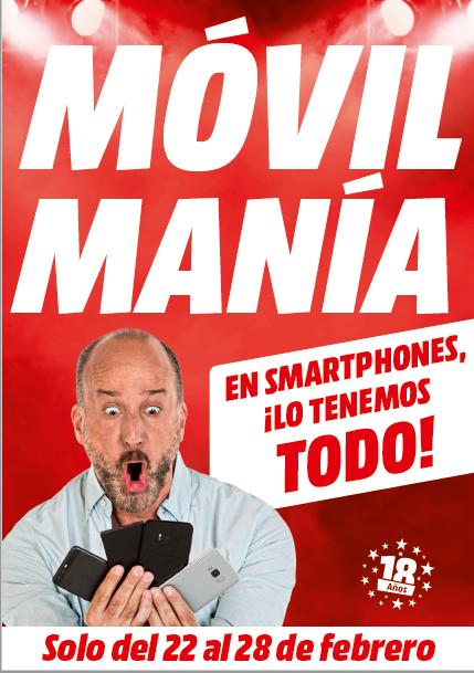 Móvil Manía, ofertas telefonía, MediaMarkt, teléfono móvil, comprar teléfono, smartphone, cadena de electrónica, promoción, folleto, MWC