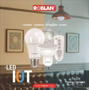 Roblan, iluminación LED, luces por Internet, gama IOT, contro remoto, App Roblan
