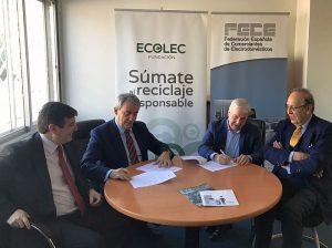 ECOLEC RAEE FECE Federación Española de Comerciantes de Electrodomésticos Residuos de Aparatos Eléctricos y Electrónicos reciclaje gestión de residuos