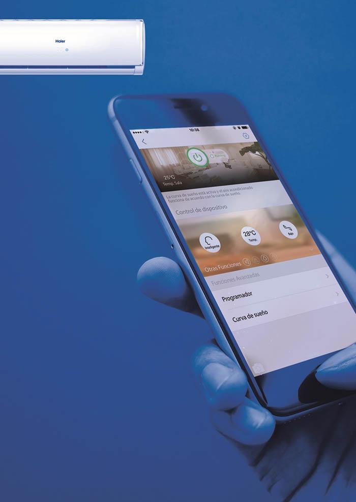 Haier Smart WiFi, aire acondicionado, control remoto, aire acondicionado inteligente, climatización inteligente, Haier Air, app