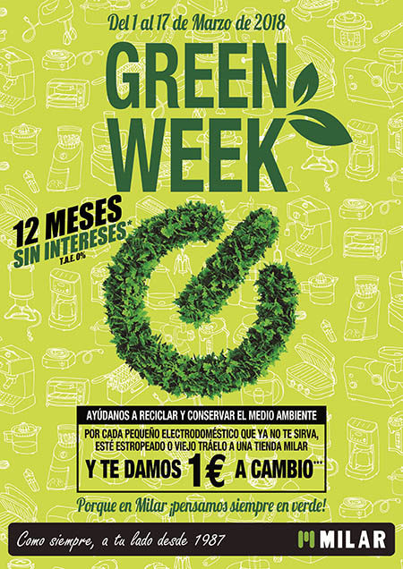 Milar, semana verde, Green Week, Caslesa, tiendas de electrodomésticos, castilla y León, Milar, electrodomésticos, reciclado, reciclaje, RAEE