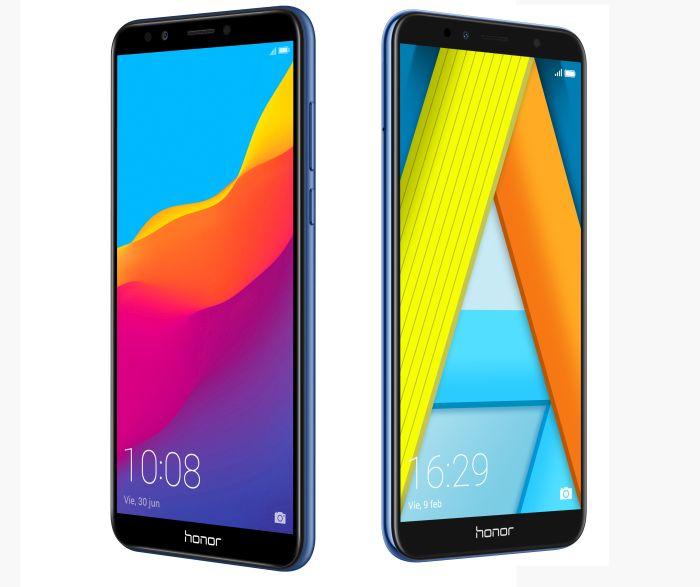 Honor 7A y 7C Honor 6x Black Friday Android 8.0 OctaCore EMUI 8.0 iWare 2.0 Bluetooth dual reconocimiento facial huella dactilar doble cámara trasera efecto Bokeh GPU Adreno 506 pantalla Infinita FullView bajo virtual SWS 3.1 SMART PA altavoces con turbocompresor música grupal