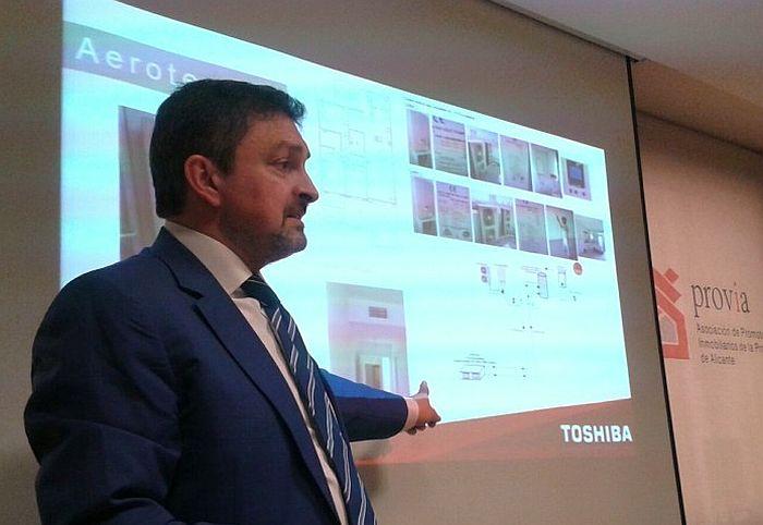 Asociación de Promotores Inmobiliarios de la Provincia de Alicante (PROVIA) Toshiba Calefacción & Aire Acondicionado aerotermia eficiencia energética Objetivo 20-20-20 viviendas pasivas Edificios de Consumo Casi Nulo energía renovable software de gestión de proyectos CYPE