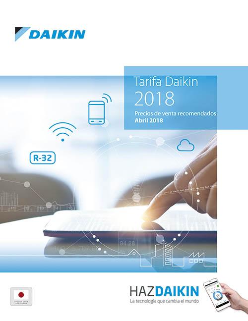 Daikin presenta su nueva Tarifa de precios 2018