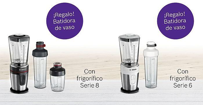 batidora de vaso personal Mixx2Go Bosch frigoríficos combis No Frost Home Connect jarra de cristal Thermosafe Serie 8 y Serie 6 tecnología de refrigeración Full Skin Condenser VitaFresh Plus VitaFresh Pro