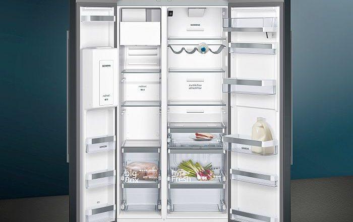 Black Inox frigoríficos Home Connect side by side Siemens