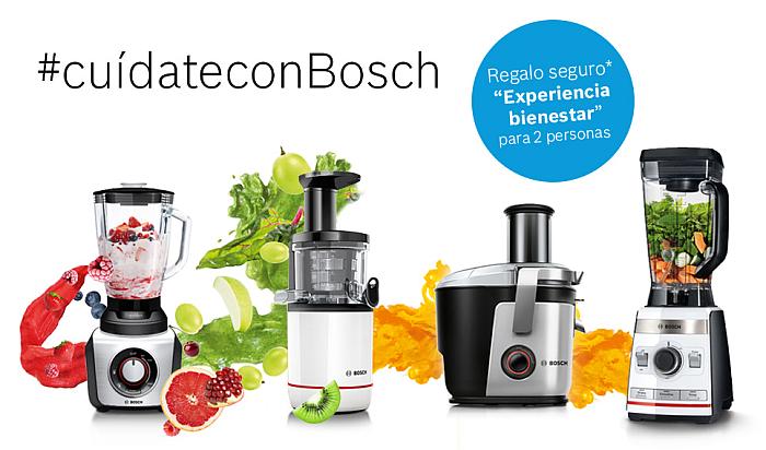 cuídateconBosch, promoción pae, pequeño electrodoméstico, saludable, belleza y bienestar, batidora vitaboost, extractor vitaExtract, electrodomésticos, regalos, cocina sana