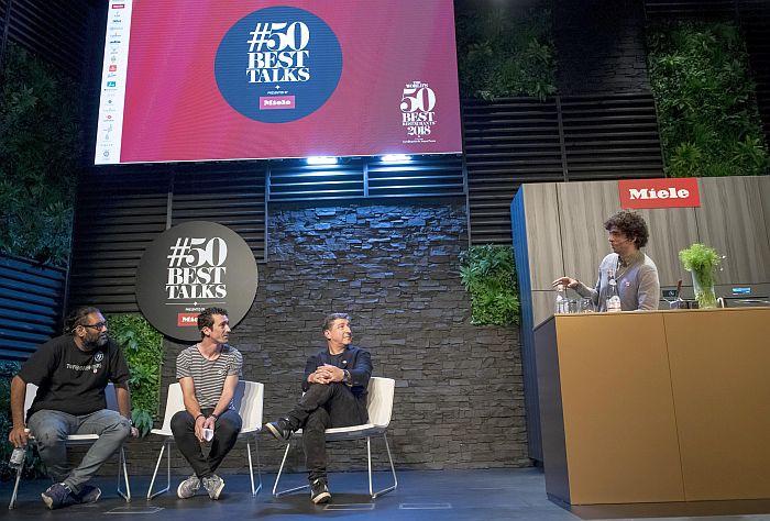 #50BestTalks, Basque Culinary Center, chefs, Chefs for Change, cocineros, hornos combinados ArtLine, Miele One To Watch, Palacio Euskalduna de Bilbao, responsabilidad social, sostenibilidad, The Worlds 50 Best Restaurants