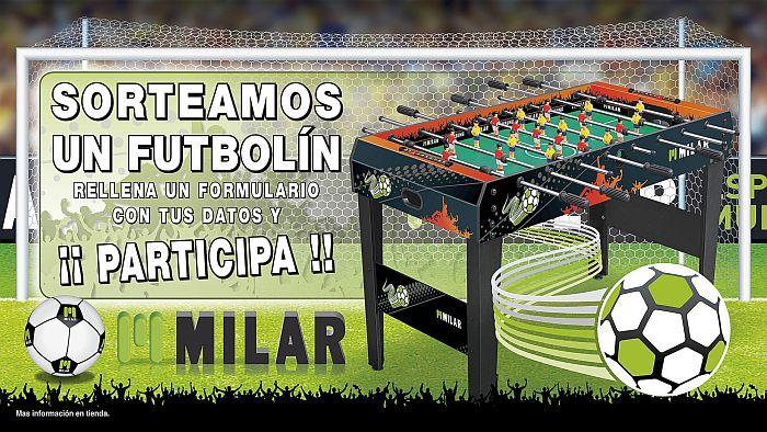 dispositivos electrónicos, Milar Galicia, Milar Vicosa, red de tiendas de proximidad, sorteo de un futbolín