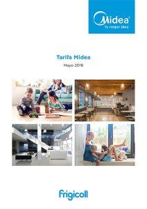 Midea, equipos de climatización, Tarifa 2018, novedades, refrigerante R-32, Frigicoll