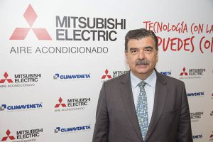 mitsubishi electric aire acondicionado, climaventa, expansión, chillers, campaña fútbol, nueva marca, pedro ruiz