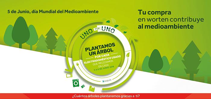 día mundial del medio ambiente, wprten, tiendas de electrodomésticos, reciclado de electrodoméstico, plantar un árbol, promoción ibérica, plantamos un árbol, medioambiente